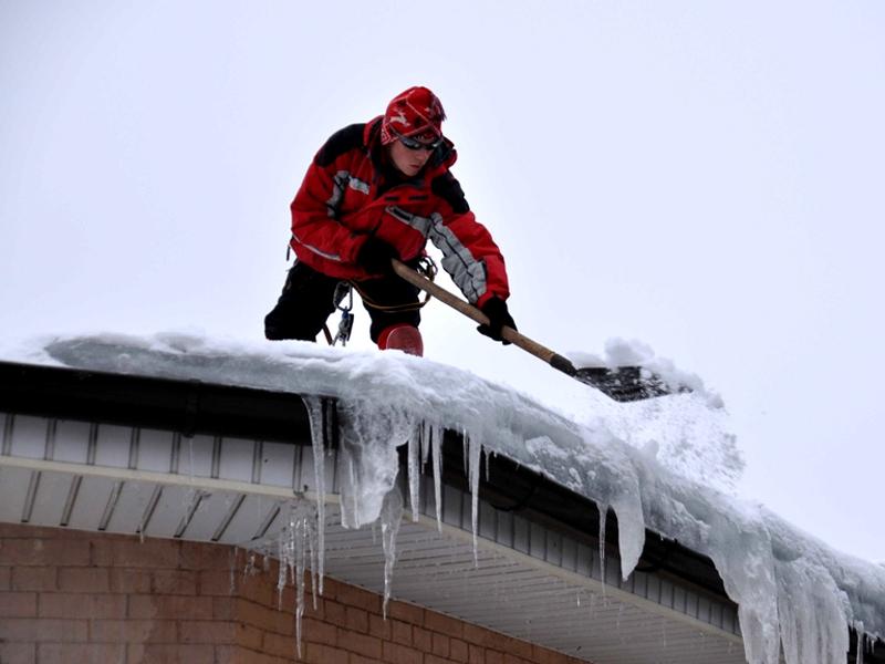 Смета на чистку снега с кровли