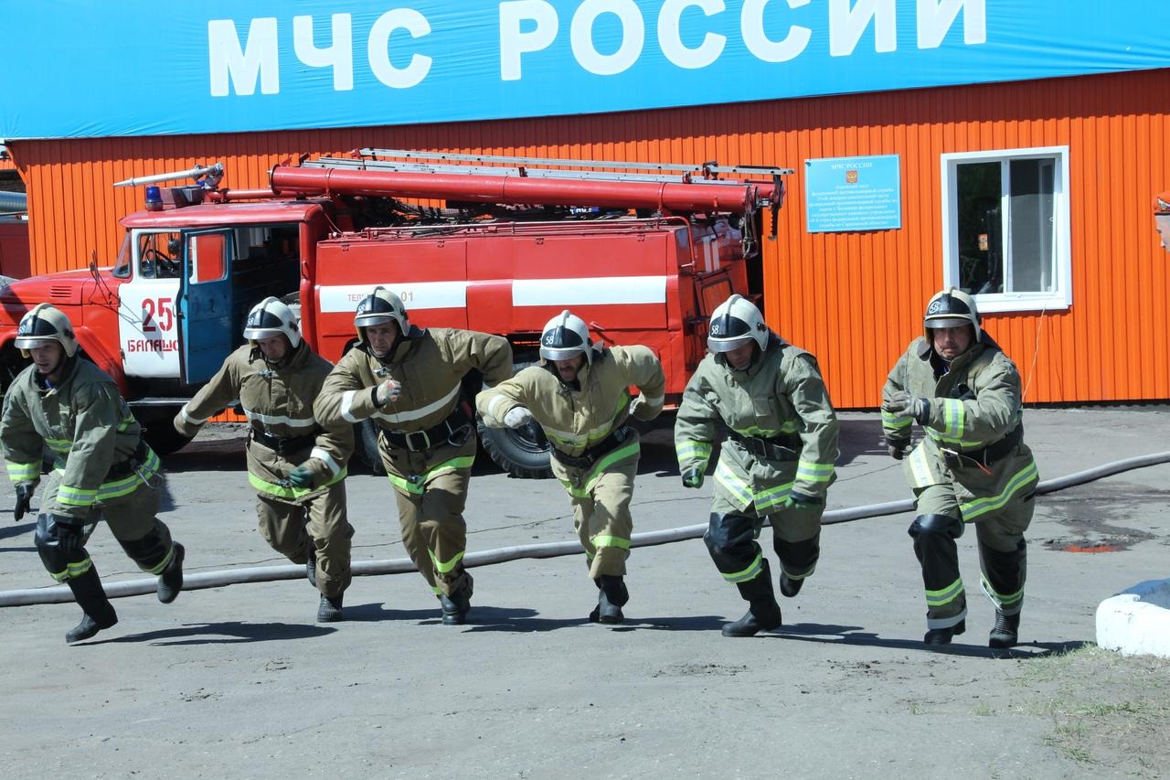В Балашове прошли региональные соревнования пожарных