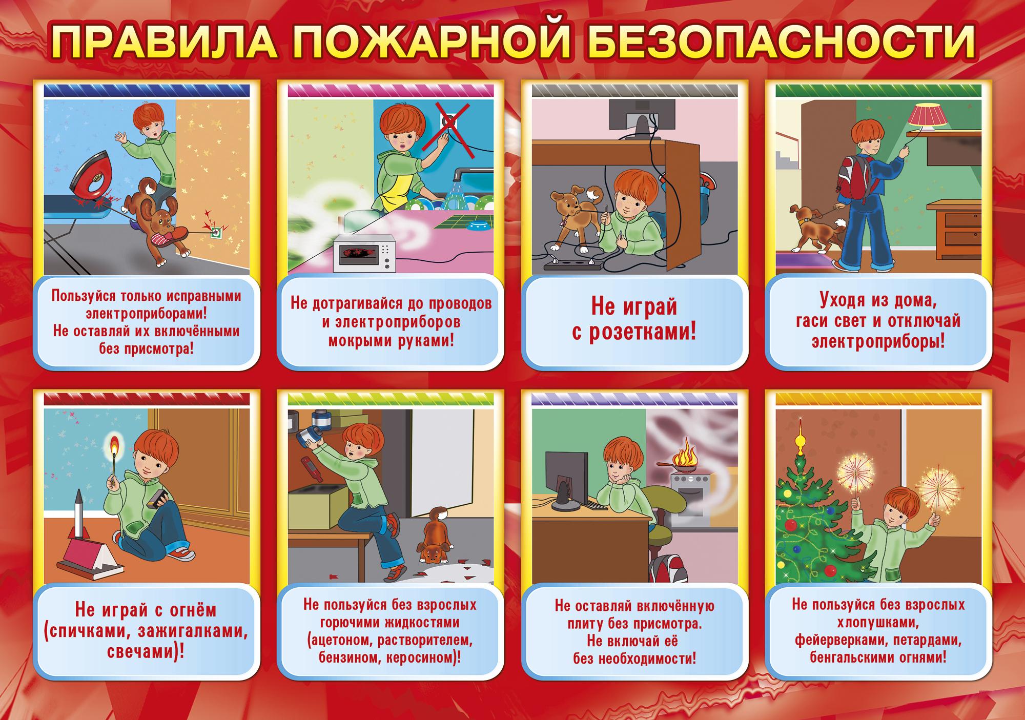 Плакат по пожарной подготовке